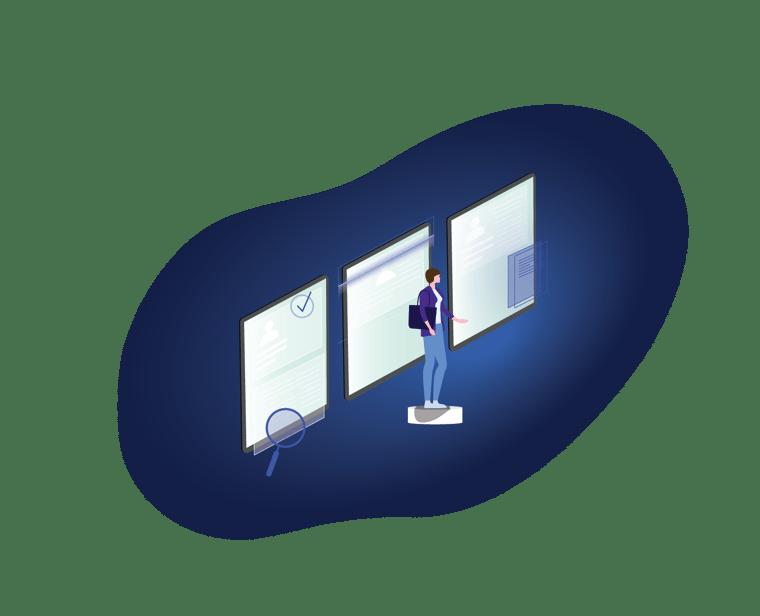 digital onboarding illustration