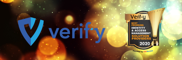Verif-y awarded by CIOReview most promising solution 2020