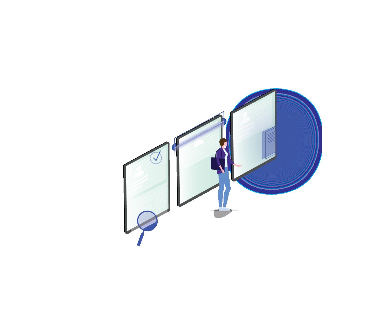 background check illustration technology